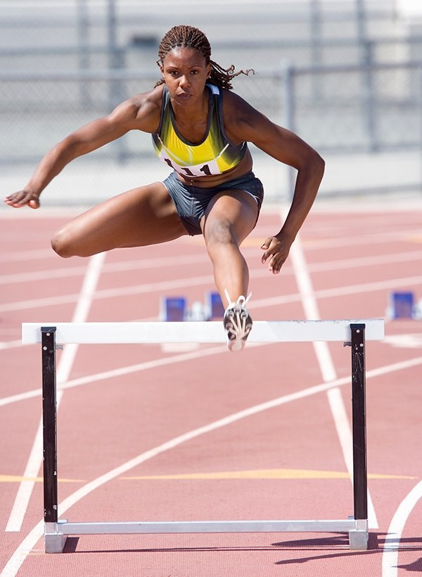 female athelete track and field