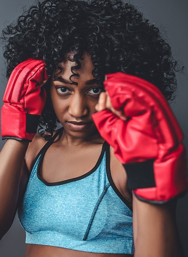 female martial arts boxing
