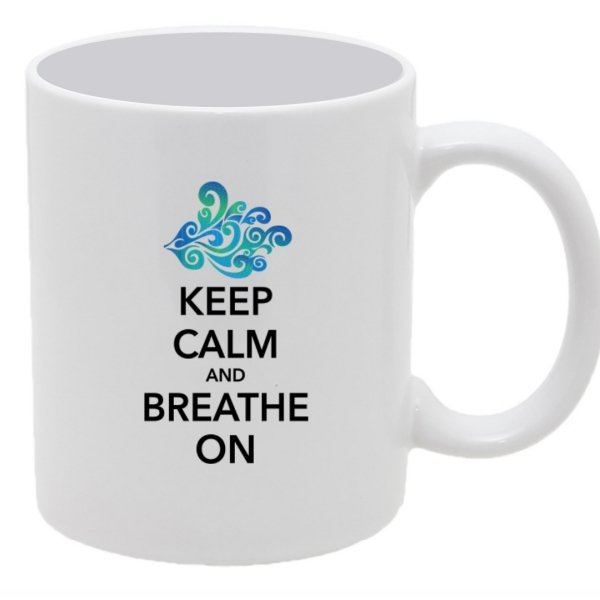 Keep Calm and Breathe on Aspire Coffee Mug