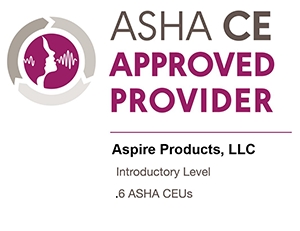ASHA CE Approved Aspire
